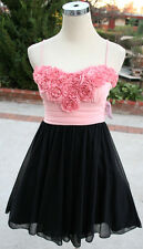 NWT Speechless Black / Pink Dance Party Day Dress L