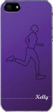 Personalized Monogrammed Purple Running Runner iPhone 5 / 5s TPU Case Cover
