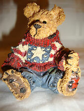 Boyds Bearstone Collection Eddie.Proud to Be A Bearmerican #228312 Le 1998