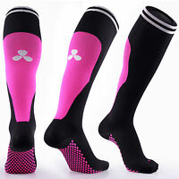 SAMSON® COMPRESSION SOCKS BLACK PINK RUNNING FOOTBALL SPORT GYM CALF MENS WOMENS