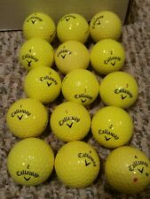 Lot of 15 used Yellow Callaway golf balls all good condition - supersoft & hot