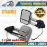 Pair Towing Extendable Mirrors Fit Toyota Prado 120 Series 03-09 Wagon W/ Tools