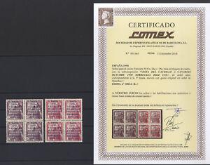 VISITA CAUDILLO A CANARIAS 1083A/B** MNH - BLOQUE CUATRO LUJO - CERT COMEX