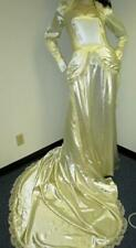 Vintage: Satin! Vintage Ivory Satin Wedding Gown
