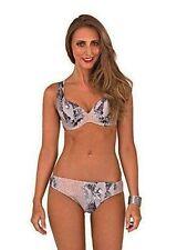 Synthetic Swimwear Briefs Bikini Sets for Women