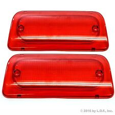 2 Chevy S10 94-04 GMC Sonoma Reg Crew Cab High 3rd Brake Light Lens Genuine RHA