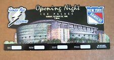 Tampa Bay Ice Palace Opening Night Oct 20, 1996 Salesman Sample Ticket