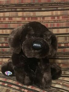 HM138 Ganz Webkinz Chocolate Lab Plush Stuffed Animal No Code Labrador dog
