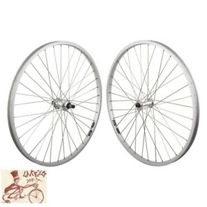 """WHEEL MASTER 5/6/7-SPEED FREEWHEEL QR 26"""" x 1.5""""  SILVER FRONT AND REAR WHEELSET"""
