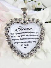 Mummy's Flower Girl Bouquet Charm Sparkling Diamantés Wedding Gift Accessories