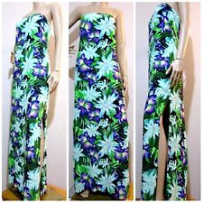 FOREVER NEW AUS size 12 / euro 40 / USA 8 tropical / floral strapless MAXI DRESS