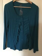 FABULOUS BLUE PRIVILEGE CARDIGAN BLUE SIZE 14 NEW