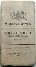 Ordnance Survey MAP 3rd Edition CHESTERFIELD,? Matlock & Worksop 1910 sheet 46