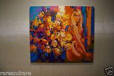 "NICOLA SIMBARI ""GOLD INTERIOR"" print on canvas"