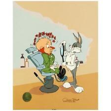 """Chuck Jones  """"Rabbit of Seville III"""" Hand Painted Animation Cel, SN COA 289/750"""