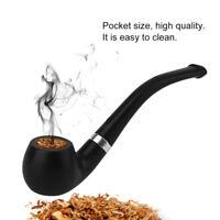 Filter Long Smoking Tobacco Pipes Classic Wood Cigar Grain Resin Pipe Chimney