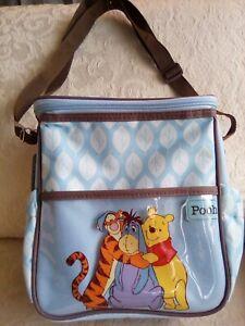 Disney Baby Mini Diaper Bag Winnie the Pooh, Eeyore Tigger Blue Brown Nylon