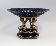 Surtout de table cobalt avec Anges Céramique Bronze 9937562
