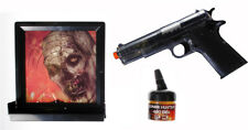 Zombie Hunter Target Pack with Airsoft Pistol and Accessories, Black and Clear