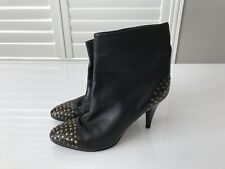 SEE By CHLOE Studded Black Leather Boots 38 1/2
