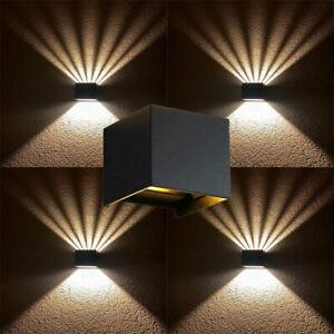 Wandlampe up down Starlight Wandleuchte Lampe Effekt Beleuchtung außen o innen