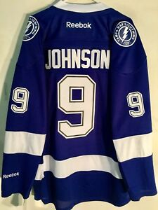Reebok Premier NHL Jersey Tampa Bay Lightning Tyler Johnson Blue sz 4X
