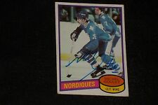 HOF MICHEL GOULET 1980-81 TOPPS ROOKIE SIGNED AUTOGRAPHED CARD #67 NORDIQUES