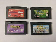 Lot of 4 Gameboy Advance Monsters Inc Finding Nemo Shrek Hey Arnold Looney Tunes