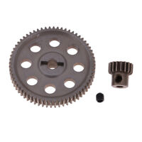 Steel Spur Diff Differential Main Gear 64T RC Motor Pinion 21T for HSP 94111