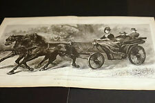 Medical ROYAL CONVALESCENT Riding in Horse and Carraige 1872 Large Engraving