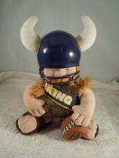 """1983 NFL HUDDLES TUDOR GAMES MINNESOTA VIKING FOOTBALL PLUSH 7 1/2"""" TALL"""