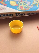 Vintage Ideal Mouse Trap Board Game 1963 Retro Spare Parts yellow wash tub