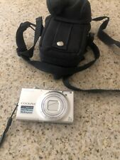 Nikon CoolPix S6100 Digital Camera 16MP Silver With Case