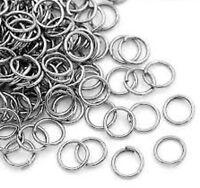 lot 100 anneaux de jonction métal gris argent apprêt bijoux ring 0,10 mm NEUF