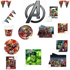 AVENGERS ASSEMBLE & ULTRON PARTY PLATES CUPS NAPKINS TABLECLOTH FREE POST!