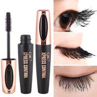 4D fibra de seda pestañas rimel extensión maquillaje negro impermeable pestañas
