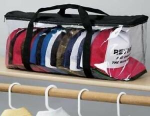 Baseball Cap Hat Case Storage Organizer Dustproof Clear Travel Zipper Holder New
