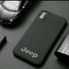 Alcantara Suede Jeep iPhone Protection Case Cover Logo Wireless Charging Slim