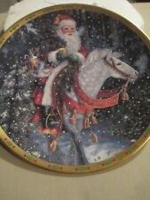 Lenox Santa of the Northern Forest By Lynn Bywaters Limited Edition Plate #A3080