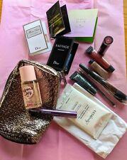 9 Piece Ulta Gift Set Makeup Bag Mascara,Brushes,Lipstick Vs Pink 2.5 Mist& more