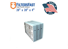 Filters Fast 4 Inch MERV 8 Air Filters 3 Pack FF4M8 20x20x4