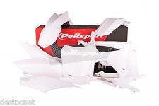 Kit plastiques Polisport  Couleur Blanc  Honda CRF 450 R de 2013 à 2015