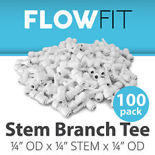 "Stem Branch Tee 1/4"" Fitting Connection Water Filters / RO Systems - 100 Pack"