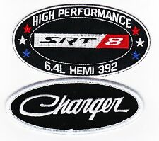 SRT8 392 SEW/IRON ON PATCHES EMBROIDERED HEMI MOPAR CAR CHARGER