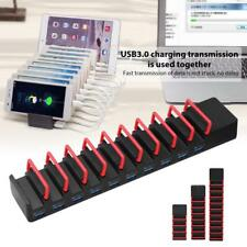 4/7/10 Ports USB3.0 Hub Charger Charging Dock Station Stand for Tablet/Phone/PC
