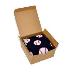 Men's Socks Gift Box Baseball Novelty Sport Themed Patterned Socks Small Present