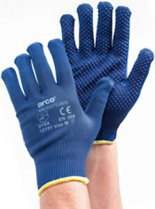 6 x Arco Essentials Grip Light Dotted Gloves - ALL Sizes Available + Free P&P