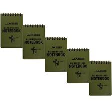 Stonges 5 Pack Impermeable todo tiempo portátil/Bloc de notas para actividades al aire libre..
