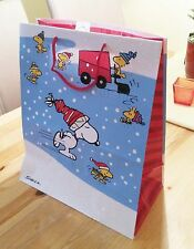 Snoopy & Woodstock / Peanuts - Geschenk Tüte gift bag / Tasche / groß blau / Neu