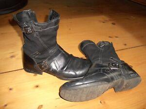 Replay Leder Stiefel, Boots, Herren Schuhe, Stiefeletten Gr. 42